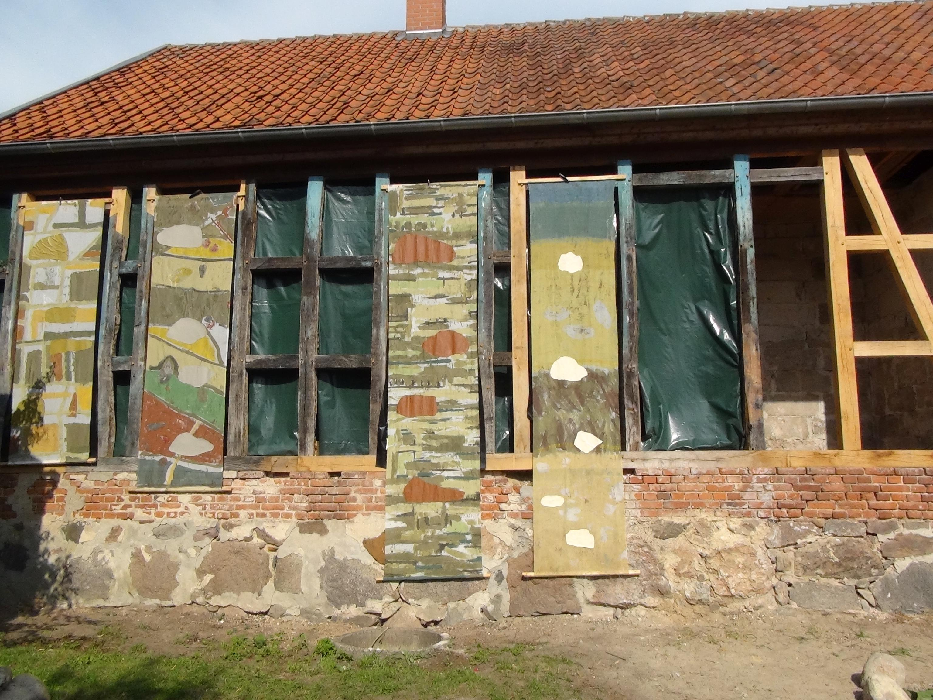 'Landschaftsbanner', wagen und winnen, Druckerei Siedendolsleben