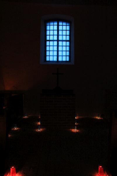 'Kirch - Leuchten', Romanische Dorfkirche Siedendolsleben
